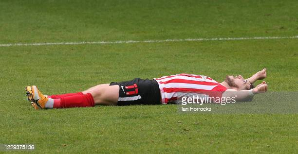 Lynden Gooch of Sunderland celebrates with his team after he scores the second goal during the Sky Bet League One match between Gillingham and...