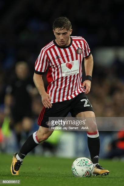 Lynden Gooch of Sunderland during the Carabao Cup Third Round match between Everton and Sunderland at Goodison Park on September 19 2017 in Liverpool...