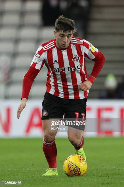 Lynden Gooch of Sunderland during the Checkatrade Trophy Quarter Final match between Sunderland and Manchester City Under 23s at the Stadium Of...