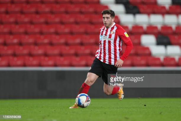 Lynden Gooch of Sunderland during the EFL Trophy match between Sunderland and Port Vale at the Stadium Of Light, Sunderland on Tuesday 12th January...