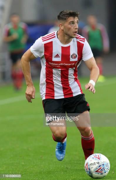Lynden Gooch of Sunderland during the pre-season friendly game between Sunderland AFC and SC Heerenveen at Stadium of Light on July 27, 2019 in...