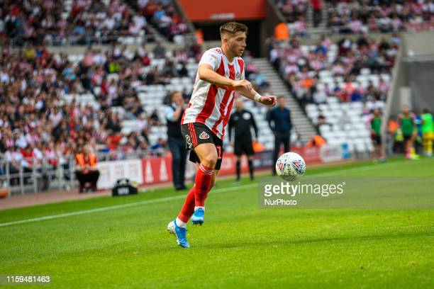 Lynden Gooch of Sunderland in action during the Sky Bet League 1 match between Sunderland and Oxford United at the Stadium Of Light, Sunderland on...
