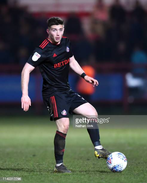 Lynden Gooch of Sunderland in action during the Sky Bet League One match between Accrington Stanley and Sunderland at The Crown Ground on April 03,...