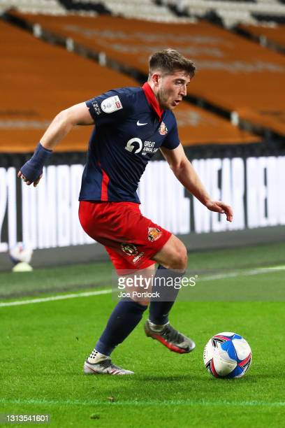 Lynden Gooch of Sunderland seen during the Sky Bet League One match between Hull City and Sunderland at KCOM Stadium on April 20, 2021 in Hull,...