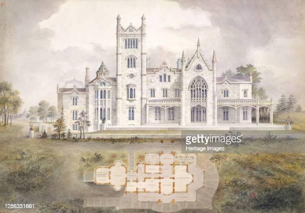 Lyndhurst for George Merritt Tarrytown New York 1865 Artist Alexander Jackson Davis