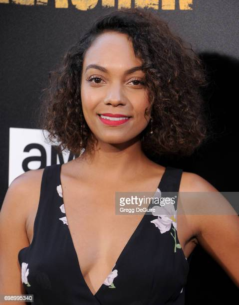Lyndie Greenwood arrives at the premiere of AMC's 'Preacher' Season 2 at The Theatre at Ace Hotel on June 20 2017 in Los Angeles California