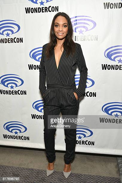 Lyndie Greenwood attends the 'Sleepy Hollow' panel at WonderCon 2016 at Los Angeles Convention Center on March 26 2016 in Los Angeles California