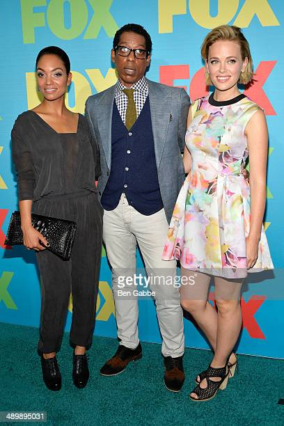 Lyndie Greenwood, Orlando Jones and Katia Winter from the cast of Sleepy Hollow attend the FOX 2014 Programming Presentation at the FOX Fanfront on...