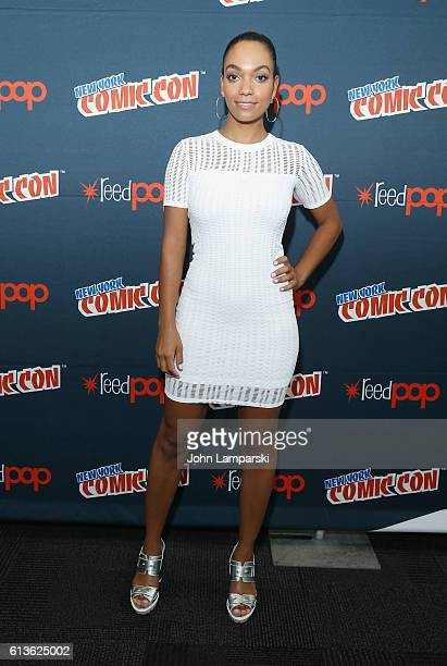 Lyndie Greenwood speaks onstage at the Sleepy Hollow Press Room during 2016 New York Comic Con at The Javits Center on October 9 2016 in New York City