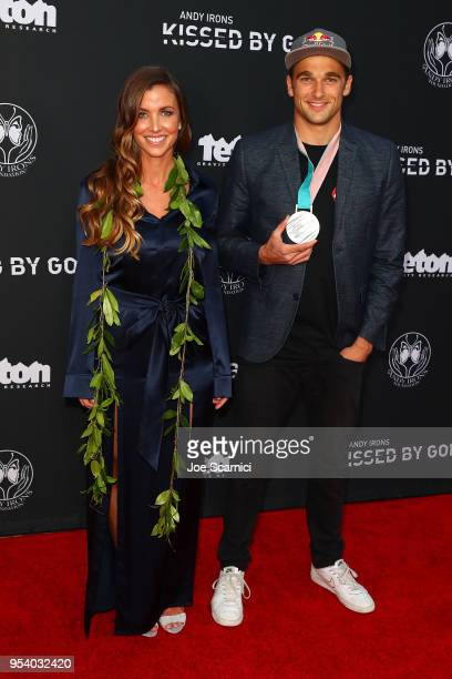 Lyndie Irons and US Olympian Nick Goepper arrive at Teton Gravity Research's Andy Iron's Kissed By God World Premier at Regency Village Theatre on...