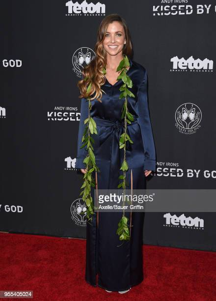 Lyndie Irons arrives at Teton Gravity Research's 'Andy Irons Kissed by God' World Premiere at Regency Village Theatre on May 2 2018 in Westwood...