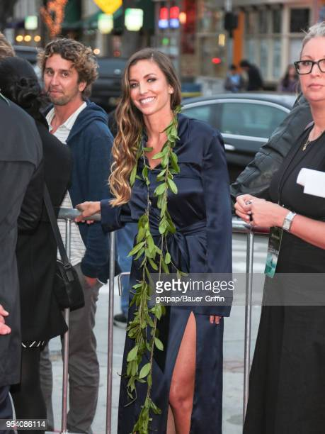 Lyndie Irons is seen outside 'Andy Iron's Kissed By God' World Premiere at Regency Village Theatre on May 02 2018 in Los Angeles California