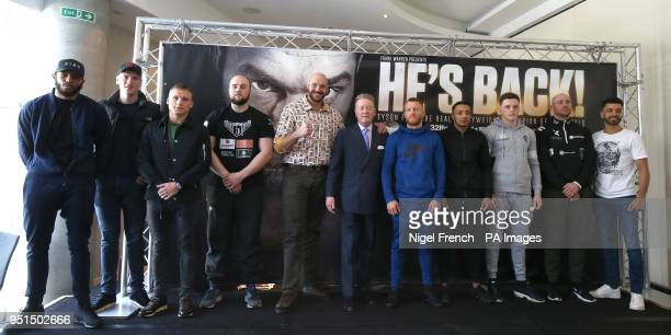 Lyndon Arthur Jack Massey JJ Metcalf Nathan Gorman Tyson Fury promoter Frank Warren Terry Flanagan Zelfa Barrett Jack McGann Alex Dickinson and Sam...
