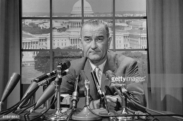 Lyndon B. Johnson at Press Conference