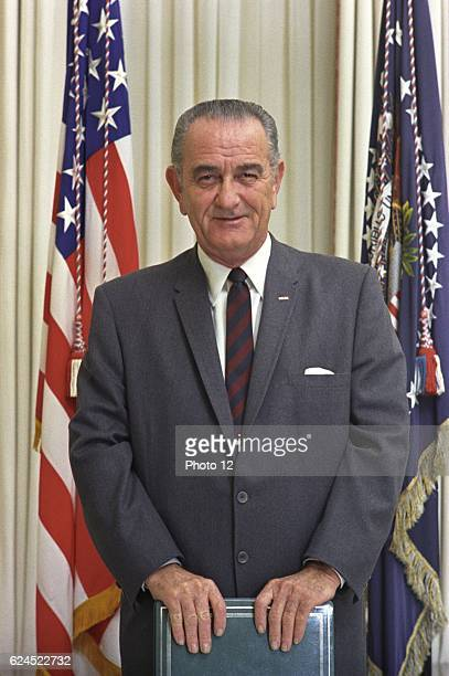 Lyndon Baines Johnson, referred to as LBJ, 36th President of the United States .