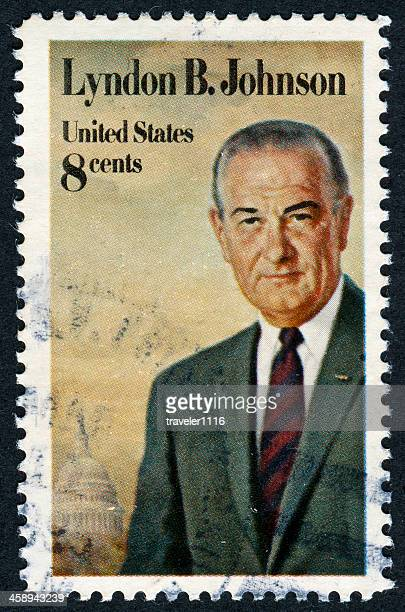 lyndon baines johnson stamp - us president stock pictures, royalty-free photos & images