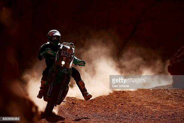 Lyndon Poskitt of Great Britain and KTM rides a 450 Rally KTM bike during stage three of the 2017 Dakar Rally between San Miguel de Tucuman and San...