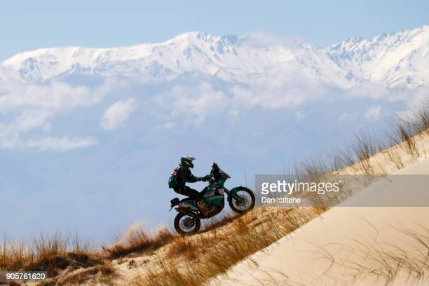 Lyndon Poskitt of Great Britain and Races to Places rides a 450 Rally KTM bike in the Classe 2.1 : Super Production during stage ten of the 2018...