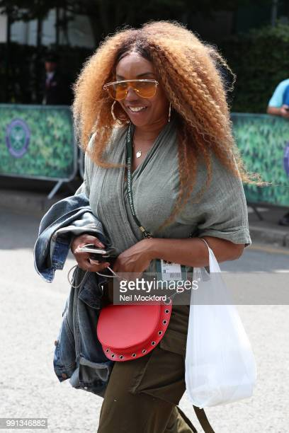 Lyndrea Price seen arriving at Wimbledon Day 3 on July 4 2018 in London England