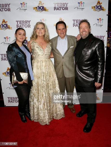 Lyndsay Cottrell Angie Fiore Fator entertainer Rich Little and comic ventriloquist and impressionist Terry Fator attend Terry Fator's 10th...