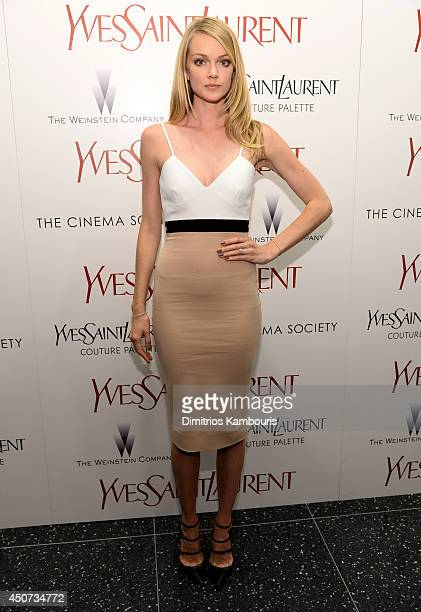 Lyndsay Ellingson attends The Weinstein Company's 'Yves Saint Laurent' premiere hosted by Yves Saint Laurent Couture Palette The Cinema Society at...