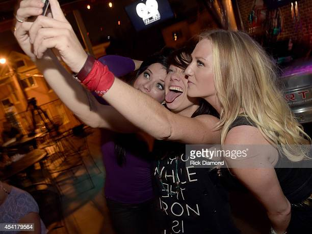 Lyndsey Highlander Sonia Leigh and Hailey Steele during The Stomp Concert Series at Soulshine Pizza Factory on August 25 2014 in Nashville Tennessee