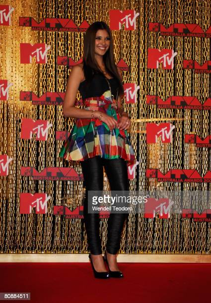 Lyndsey Rodrigues arrives at the MTV Australia Awards 2008 at the Australian Technology Park Redfern on April 26 2008 in Sydney Australia This year's...