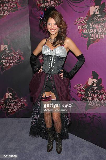 Lyndsey Rodrigues attends the 2008 Tila Tequila's MTV New Year's Eve Masquerade party at MTV Times Square studio on December 31 2007 in New York City