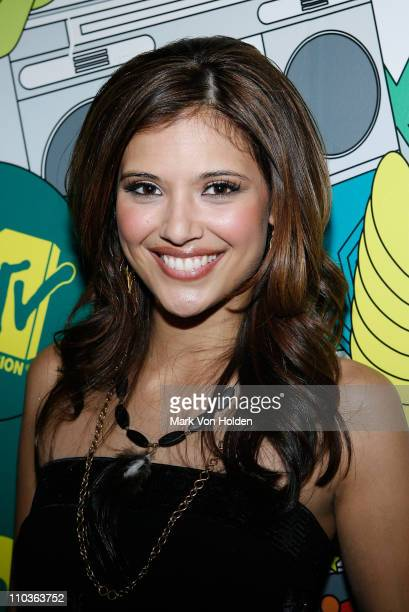 Lyndsey Rodrigues debuts as MTV's New VJ on TRL on December 10 2007 in New York City