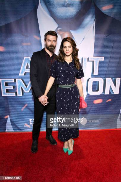Lyndsy Fonseca and Noah Bean attend the Premiere of Agent Emerson at iPic Theater on November 18 2019 in Los Angeles California