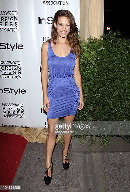 Lyndsy Fonseca arrives at the 11th Annual InStyle HFPA party held at Windsor Arms Hotel on September 14 2010 in Toronto Canada