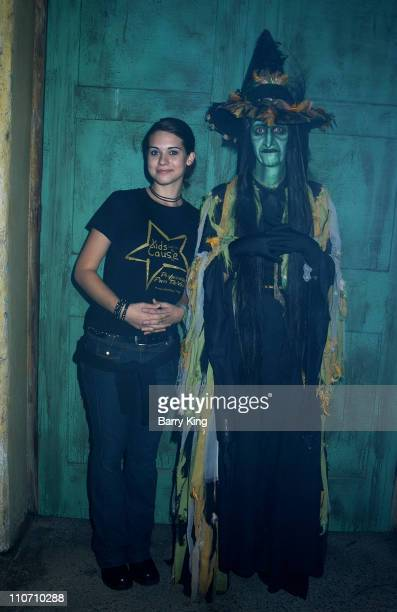 Lyndsy Fonseca at Knotts Scary Farm at the Kids with A Cause event