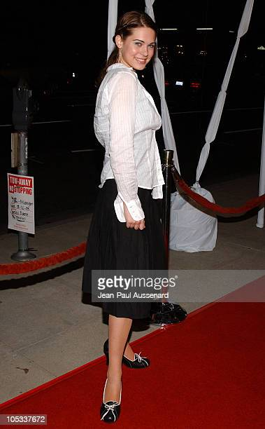 Lyndsy Fonseca during Girl With A Pearl Earring Los Angeles Premiere Arrivals at Academy of Motion Pictures Arts and Sciences in Beverly Hills...