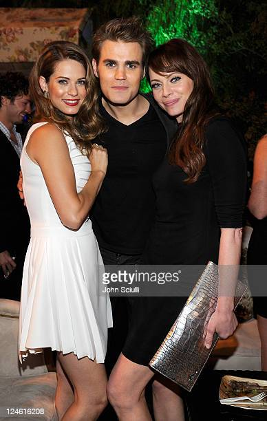 Lyndsy Fonseca Paul Wesley and Melinda Clarke attend the CW launch party presented by Bing at Warner Bros Studios on September 10 2011 in Burbank...
