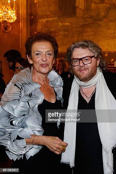 Lyne Cohen Solal and Designer Josephus Thimister attend the 'Chambre Syndicale De La Couture' Cocktail Party as part of the Paris Fashion Week...