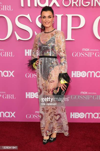 """Lyne Renée attends the """"Gossip Girl"""" New York Premiere at Spring Studios on June 30, 2021 in New York City."""