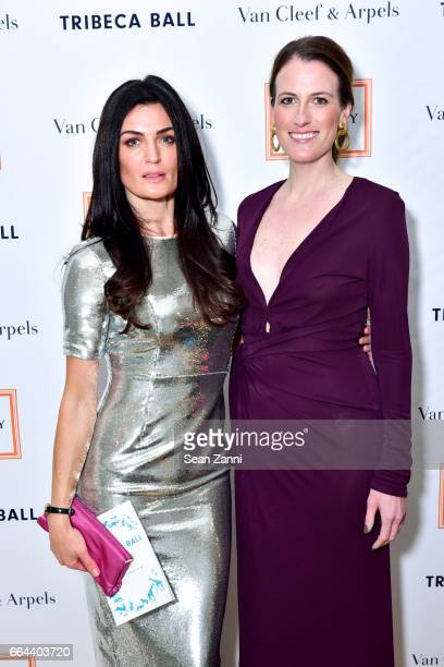 Lyne Renee and Clementine Crawford attend the New York Academy of Art Tribeca Ball Honoring Will Cotton at New York Academy of Art on April 3 2017 in...