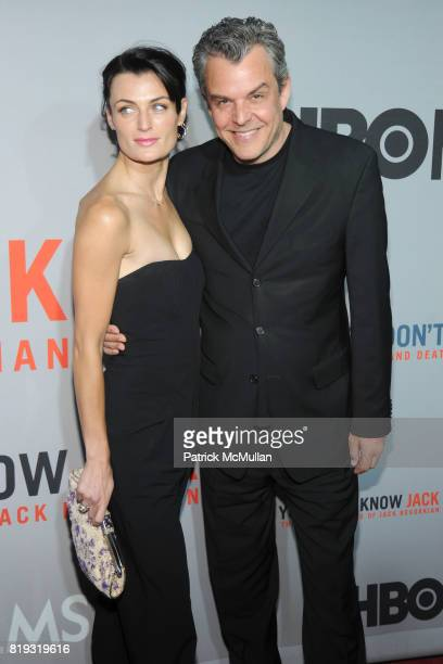 """Lyne Renee and Danny Huston attend HBO Films NYC Premiere of """"YOU DON'T KNOW JACK"""" at The Ziegfeld Theater on April 14, 2010 in New York City."""