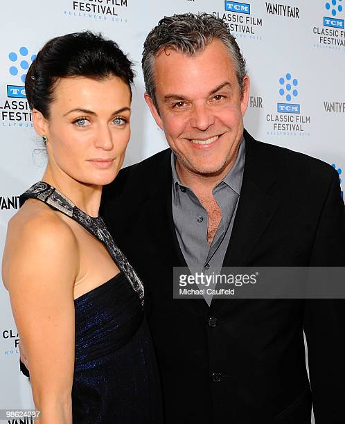 """Lyne Renee and Danny Huston attend the Opening Night Gala of the newly restored """"A Star Is Born"""" premiere at Grauman's Chinese Theatre on April 22,..."""