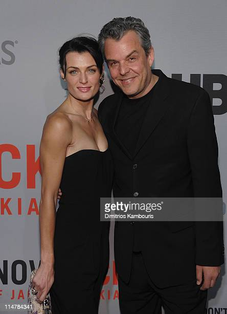 """Lyne Renee and Danny Huston attend the premiere of HBO Film's """"You Don't Know Jack"""" at the Ziegfeld Theatre on April 14, 2010 in New York City."""