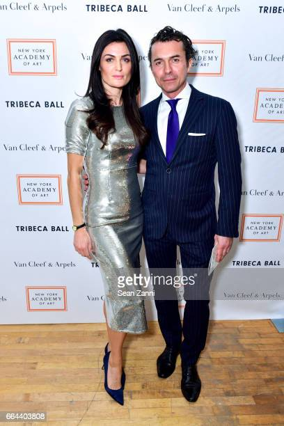Lyne Renee and William Abadie attend the New York Academy of Art Tribeca Ball Honoring Will Cotton at New York Academy of Art on April 3 2017 in New...