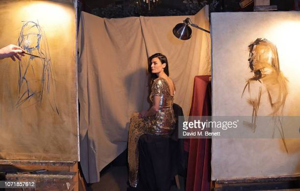 Lyne Renee attends Live Painting at Mark's Club with Nicky Philipps and Nick Bashall for Khula Education on December 11 2018 in London United Kingdom