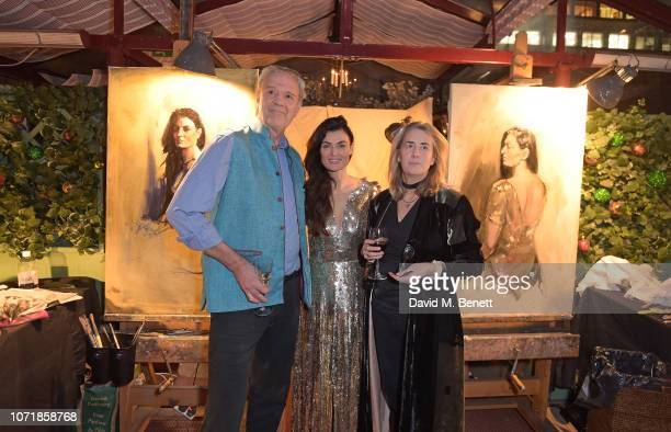 Lyne Renee attends Live Painting at Mark's Club with Nicky Philipps and Nick Bashall for Khula Education on December 11, 2018 in London, United...