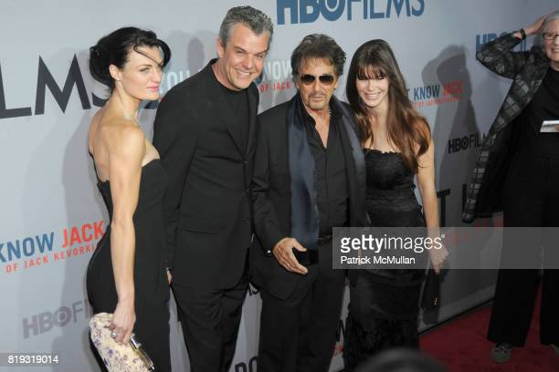 Lyne Renee Danny Huston Al Pacino and Lucila Sola attend HBO Films NYC Premiere of YOU DON'T KNOW JACK at The Ziegfeld Theater on April 14 2010 in...