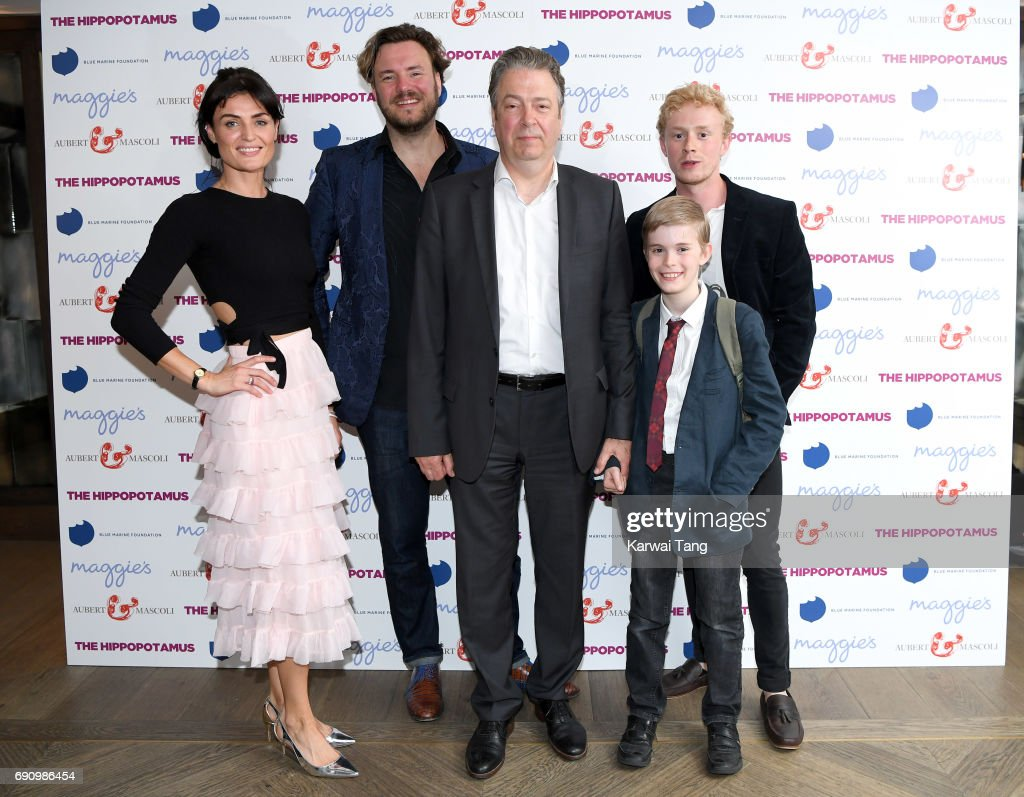 Lyne Renee, John Jencks, Roger Allam and Dean Ridge attend the UK gala screening of The Hippopotamus at The Mayfair Hotel on May 31, 2017 in London, England.