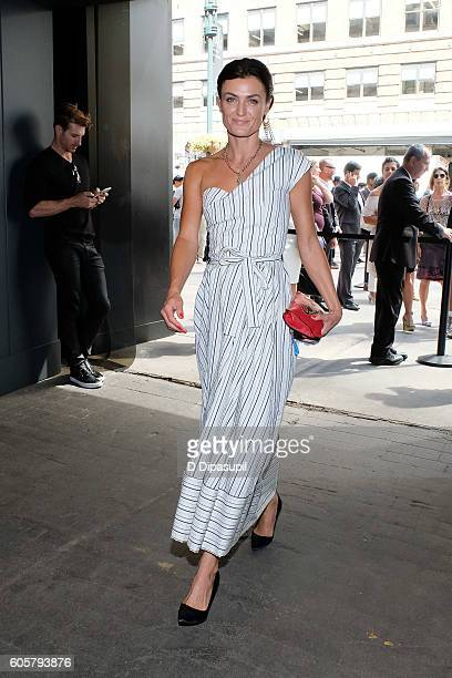 Lyne Renee of PBS 'Mercy Street' is seen during New York Fashion Week The Shows at Skylight at Moynihan Station on September 14 2016 in New York City