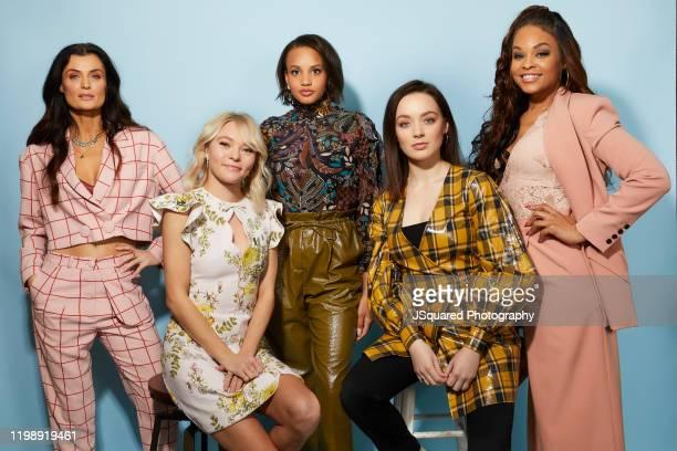 Lyne Renee, Taylor Hickson, Ashley Nicole Williams, Amalia Holm and Demetria McKinney of Freeform's 'Motherland: Fort Salem' pose for a portrait...