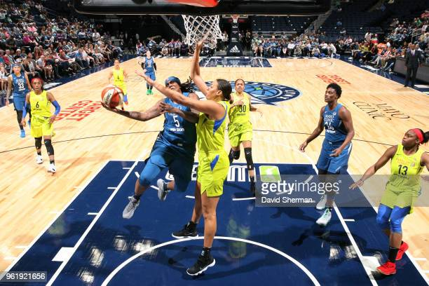 Lynetta Kizer of the Minnesota Lynx handles the ball against the Dallas Wings on May 23 2018 at Target Center in Minneapolis Minnesota NOTE TO USER...