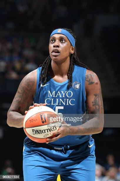 Lynetta Kizer of the Minnesota Lynx shoots the ball against the Los Angeles Sparks on May 20 2018 at Target Center in Minneapolis Minnesota NOTE TO...