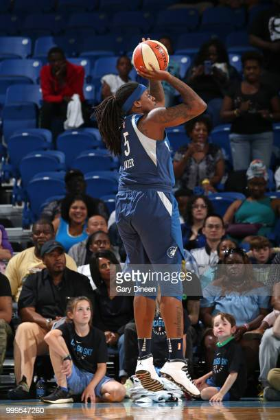 Lynetta Kizer of the Minnesota Lynx shoots the ball against the Chicago Sky on July 07 2018 at the Wintrust Arena in Chicago Illinois NOTE TO USER...